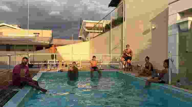 Nadadores treinam juntos em piscina em Rio Preto - Arquivo Pessoal - Arquivo Pessoal