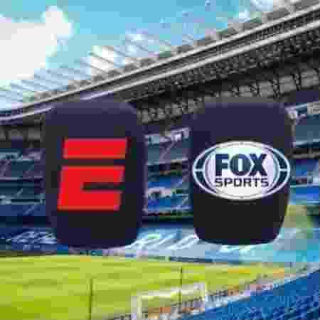 Novo microfone da ESPN e do Fox Sports trará o logo das duas emissoras na espuma - Divulgação