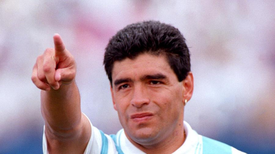 Diego Maradona na Copa de 1994 - Tony Marshall - EMPICS/PA Images via Getty Images