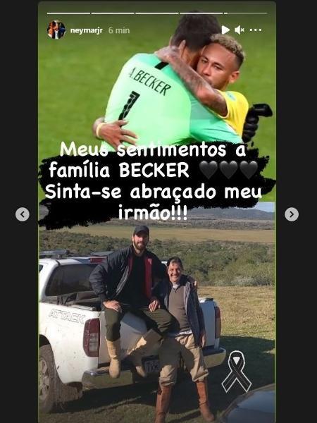 Neymar se solidariza com morte de pai do Alisson e Muriel e faz post no Instagram - Reprodução/Instagram/@neymarjr