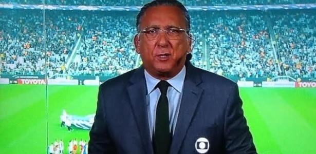 Galvão Bueno, locutor oficial do futebol na Globo  - Reprodução/TV Globo