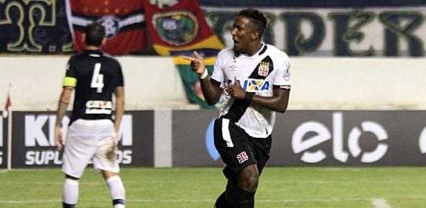 Thalles comemora o seu gol. O da vitória do Vasco por 1 a 0 sobre o Remo