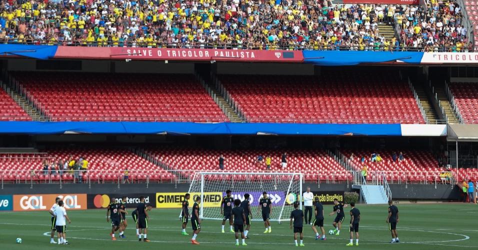 Seleção brasileira treina no estádio do Morumbi