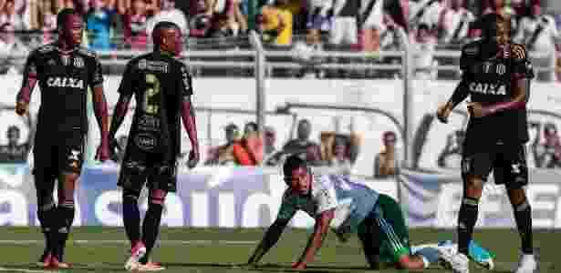 Borja em ação pelo Palmeiras na partida contra a Ponte no Moisés Lucarelli - Ale Cabral/AGIF