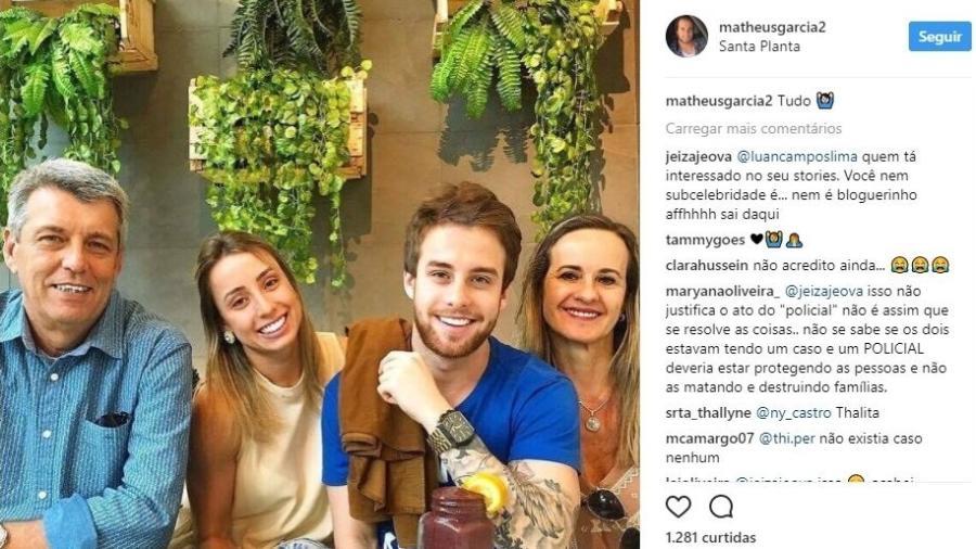 Matheus Garcia Vasconcelos e família - Reprodução/Instagram