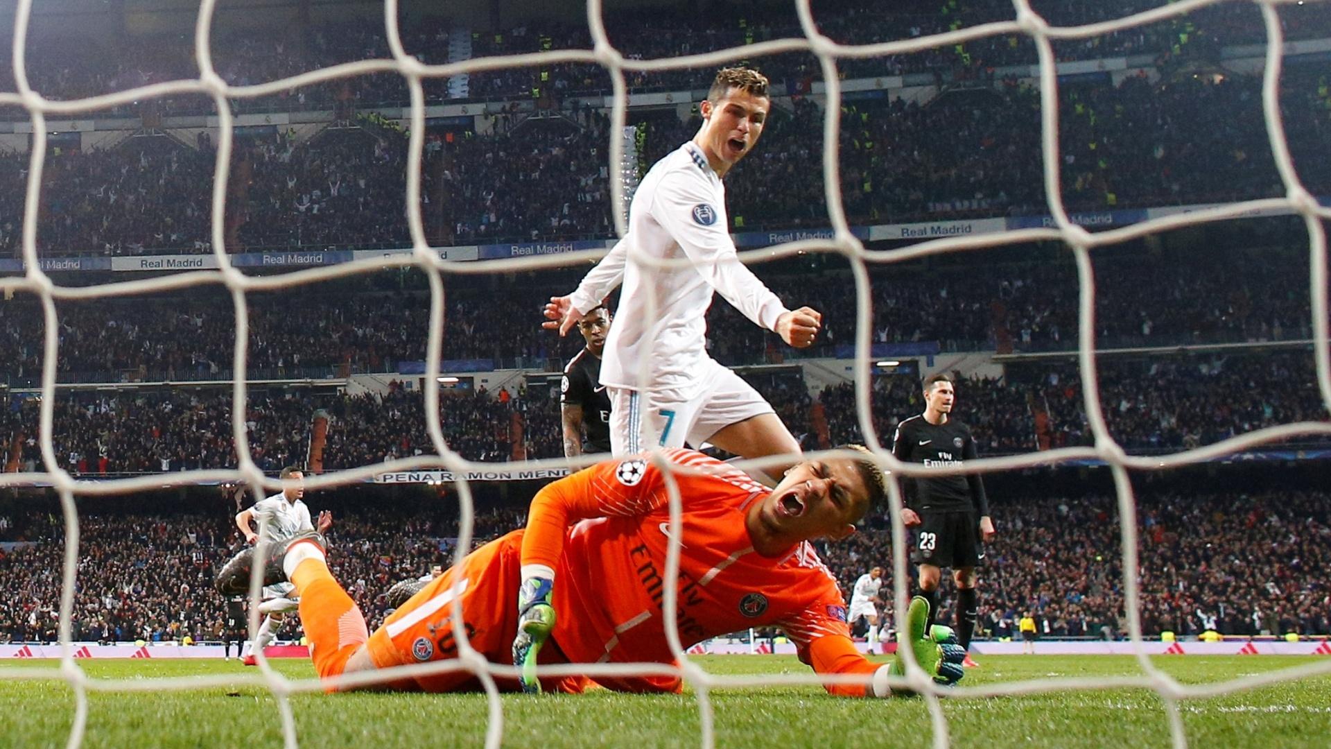 Cristiano Ronaldo marca o segundo gol do Real Madrid diante do PSG