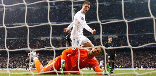 Cristiano Ronaldo marca pelo Real Madrid diante do PSG; Romero se deu mal em aposta - REUTERS/Paul Hanna