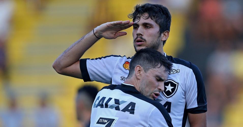 Igor Rabello comemora gol do Botafogo diante do Volta Redonda