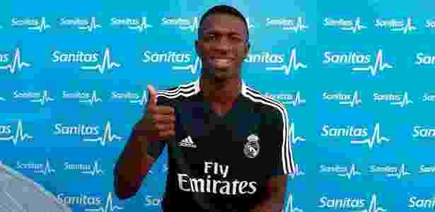 Vinicius Junior faz primeiros exames clínicos no Real Madrid - Divulgação: Real Madrid