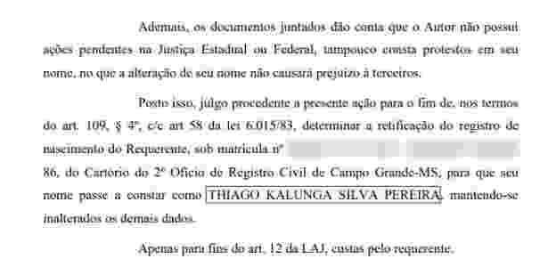 """Torcedor conseguiu na Justiça direito de adicionar """"Kalunga"""" ao nome - Reprodução - Reprodução"""