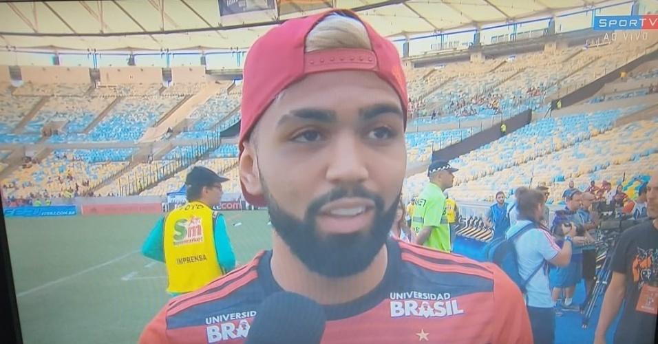 Gabigol, atacante do Flamengo, no estádio Maracanã