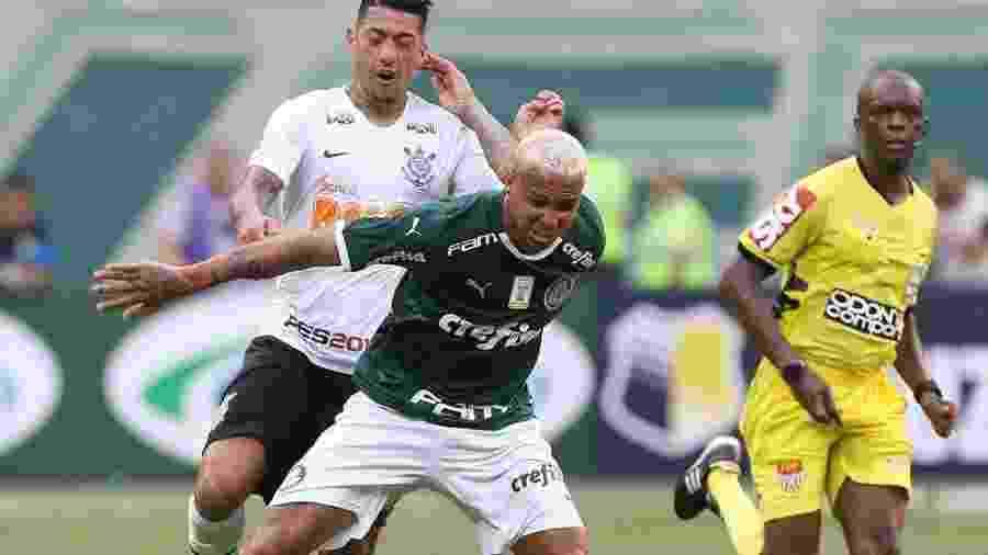 Deyverson foi expulso contra o Corinthians por cuspir em adversário - Palmeiras/Flickr