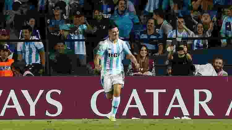 Cristaldo comemora seu gol contra o Corinthians - REUTERS/Agustin Marcarian - REUTERS/Agustin Marcarian