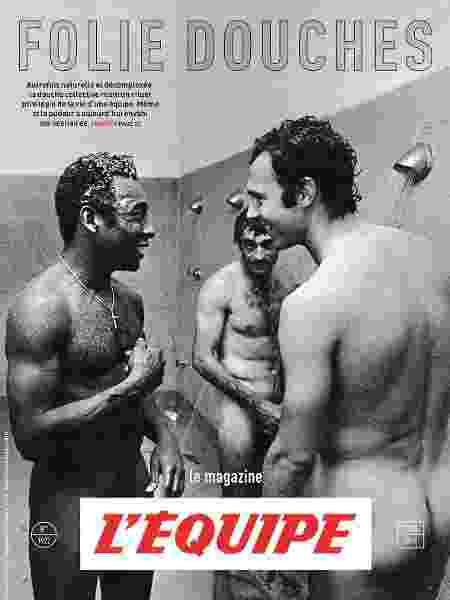 Revista francesa põe Pelé e Beckenbauer nus em capa sobre pudor no esporte - Reprodução