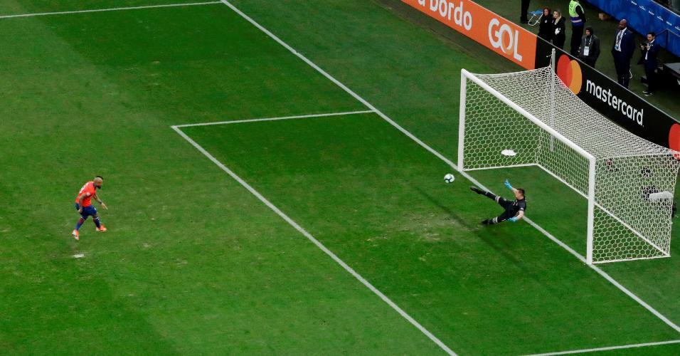 Vidal diminuiu de pênalti
