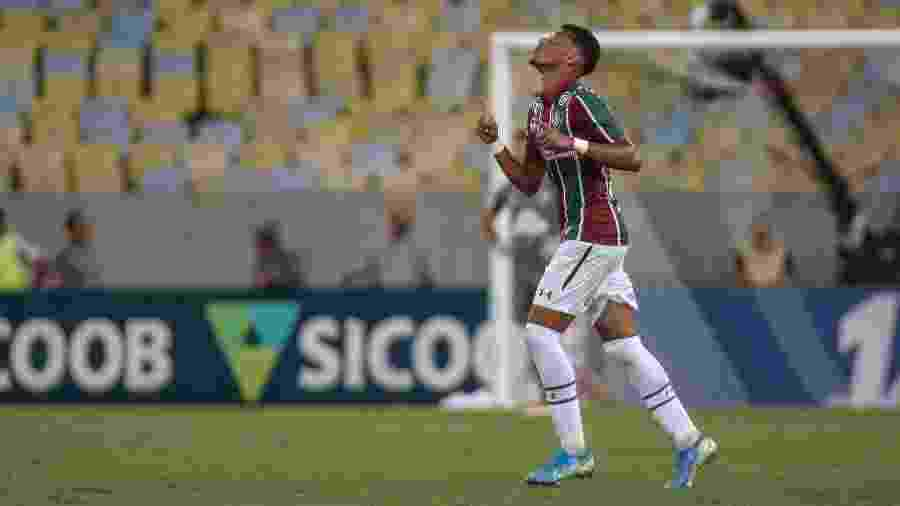 Marcos Paulo protagonizou lance que gerou gol contra de Patric, na partida contra o Atlético-MG - LUCAS MERÇON/ FLUMINENSE F.C.