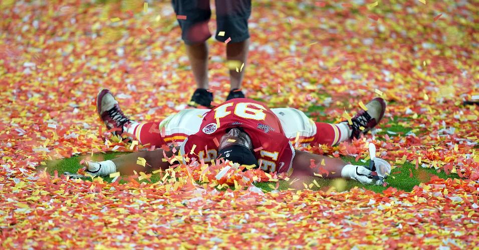 Kansas City Chiefs comemoram a vitória no Super Bowl 54