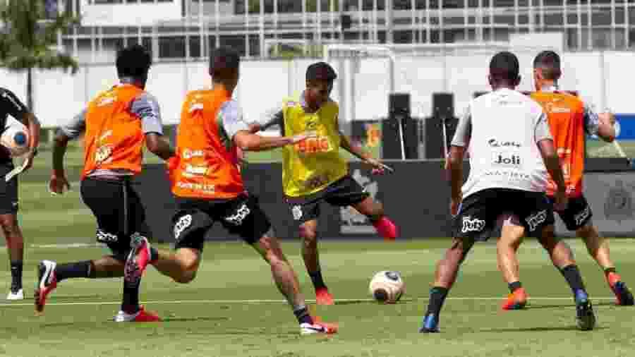 Treino do Corinthians visando confronto do Campeonato Paulista - Reprodução / Twitter / Corinthians