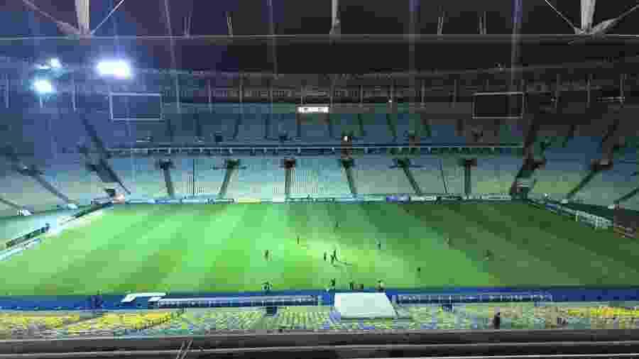 Estádio do Maracanã, antes da partida entre Bangu e Flamengo, realizada ontem pelo Carioca sem público - Rodrigo Mattos/UOL