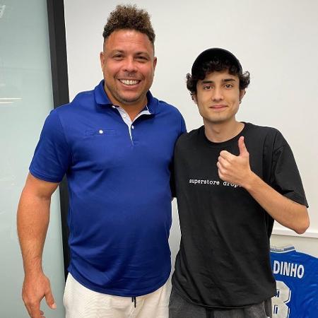 Ronaldo Fenômeno com o jogador e streamer NinexT - Reprodução/Instagram