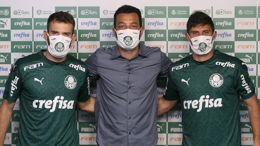 Alan Empereur e Kuscevic foram apresentados pelo assessor técnico Edu Dracena no Palmeiras - Cesar Greco