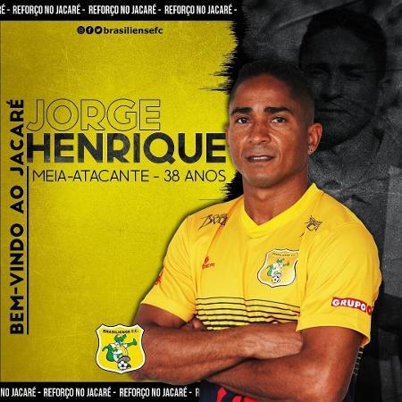 Jorge Henrique foi anunciado pelo Brasiliense - Divulgação/Brasiliense