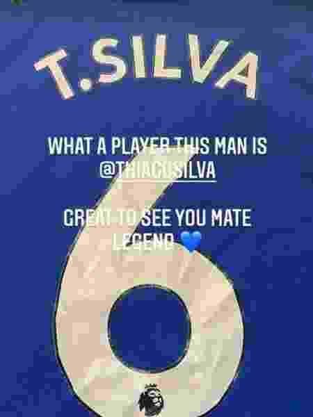 John Terry agradece Thiago Silva por camisa - Reprodução/Instagram - Reprodução/Instagram