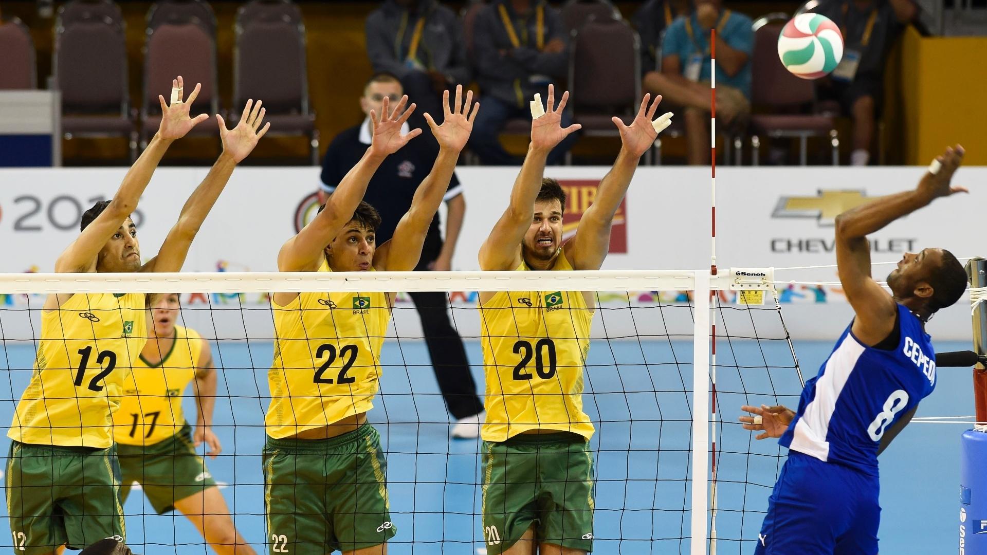 Brasil enfrenta Cuba pelo vôlei masculino do Pan