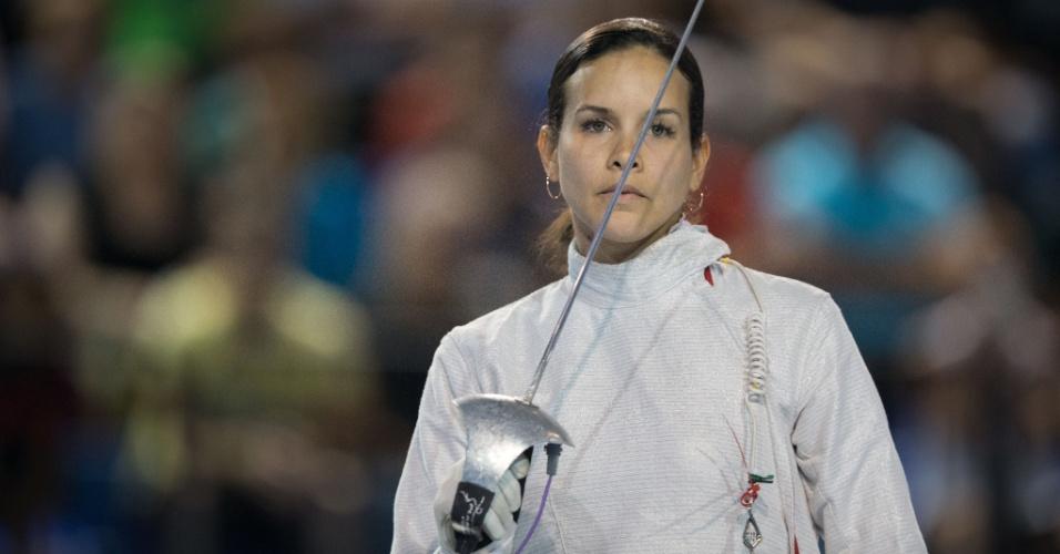 Medalha de prata no sabre, a esgrimista venezuelana Alejandra Benitez chamou a atenção também pela beleza