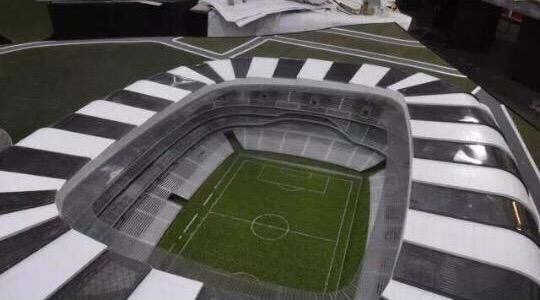 Maquete do estádio do Atlético-MG está pronta
