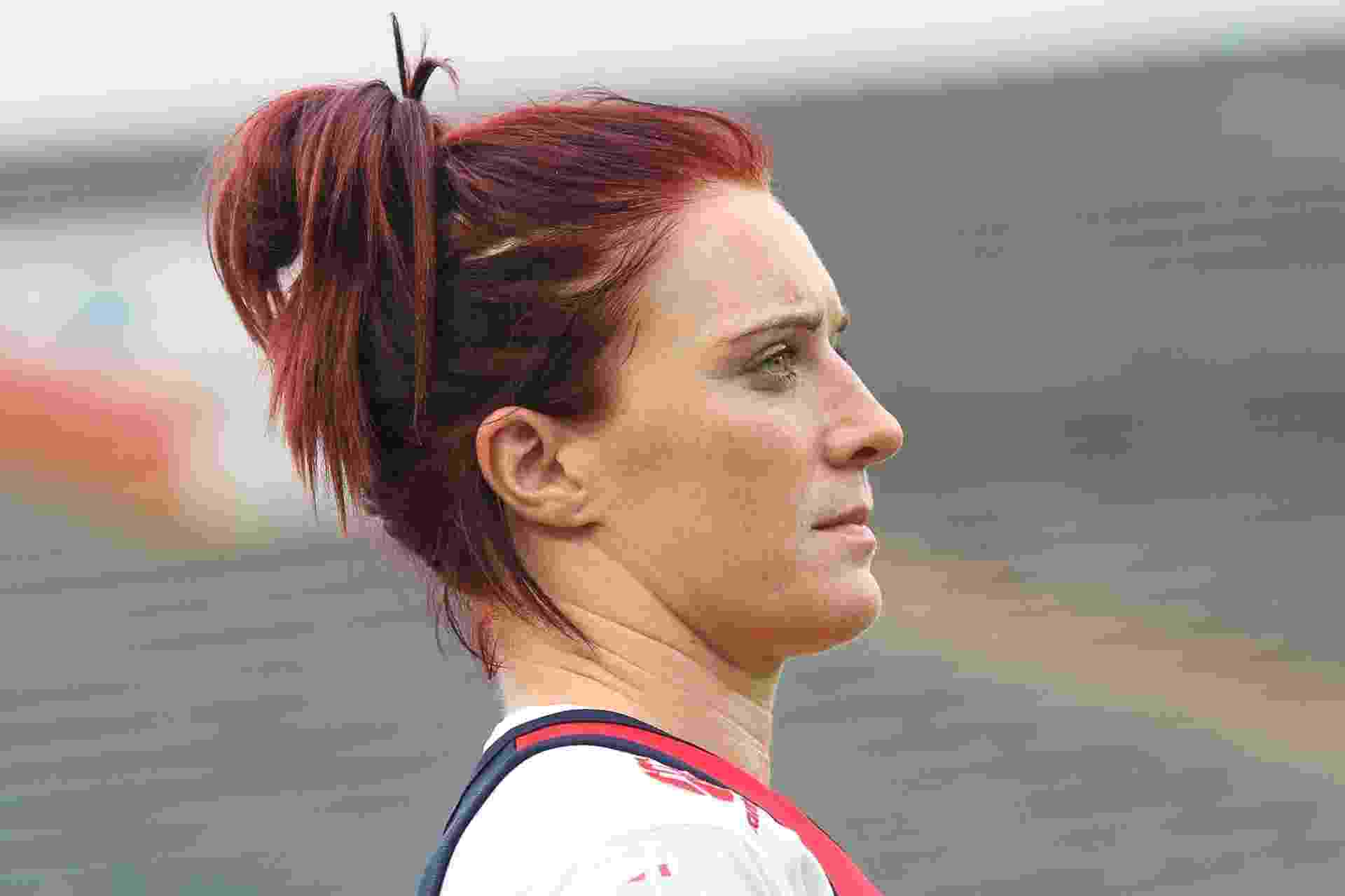 Jogadoras capricham no penteado em etapa de São Paulo do Circuito Mundial de Rúgbi Sete - João Neto/Fotojump