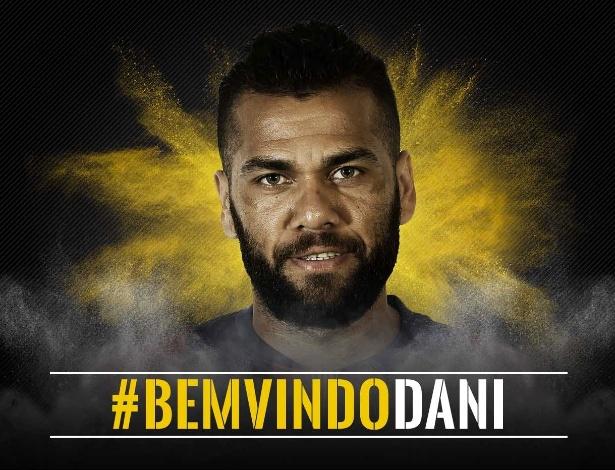"""A mensagem da Juventus para Daniel Alves: """"Bem vindo"""", em português - Divulgação"""