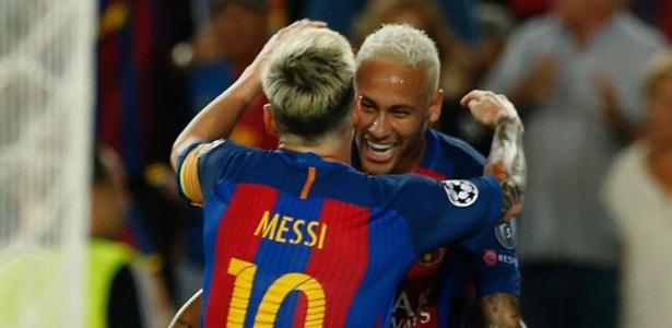 Resultado de imagem para uol messi e neymar