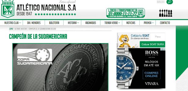 Site Atlético - Reprodução/Site oficial - Reprodução/Site oficial
