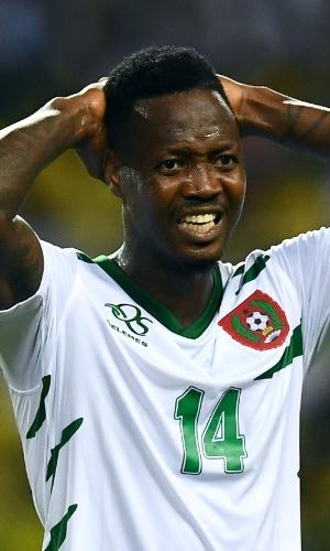 Juary Soares, da seleção de Guiné-Bissau, na Copa Africana de Nações 2017