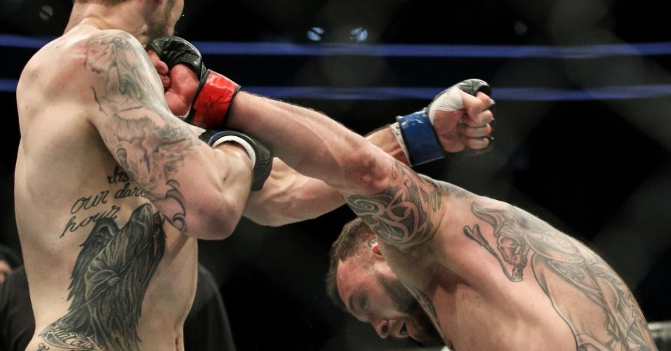 Luta entre o britânico Mark Godbeer e o americano Daniel Spitz