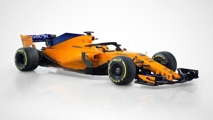 Novo carro da McLaren para a temporada de 2018 - McLaren