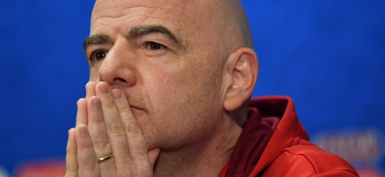 Infantino (foto) teve a sua gestão extremamente criticada pela federação alemã - Dan Mullan/Getty Images
