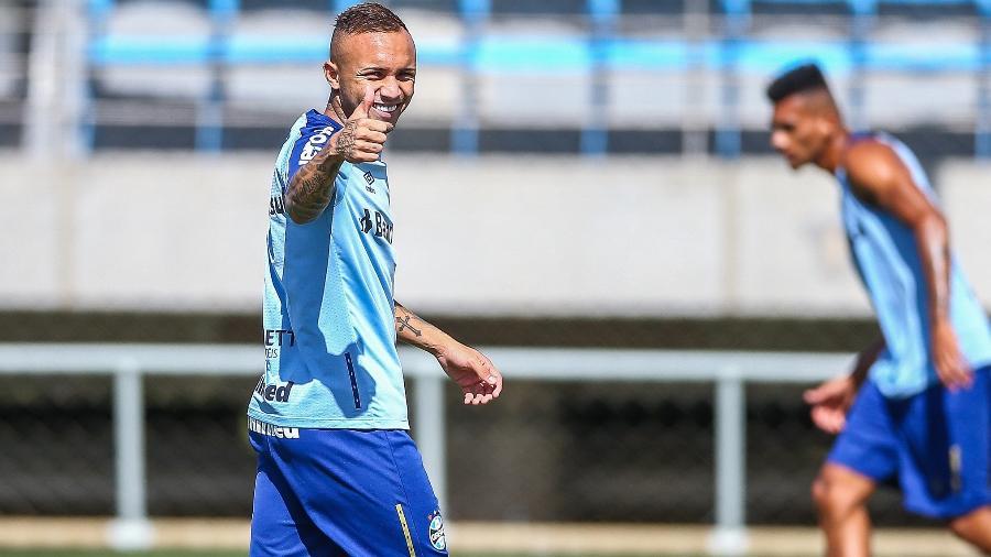 Atacante Everton é um dos responsáveis pelos gols do Grêmio na temporada - Lucas Uebel/Grêmio
