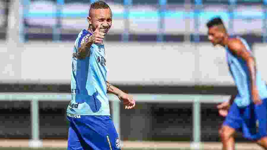 Atacante Everton provocou depois de clássico Gre-Nal deste domingo, na Arena - Lucas Uebel/Grêmio