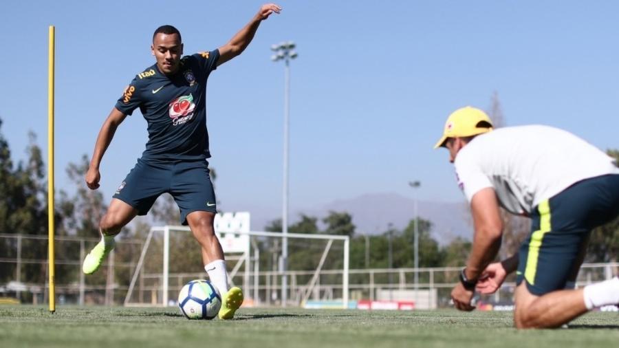 Rafael Papagaio, atacante da seleção brasileira sub-20, chegou ao Atlético-MG com problema clínico - Lucas Figueiredo / CBF