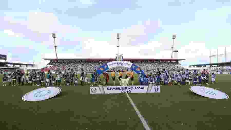 CSA e Palmeiras se enfrentaram no estádio Rei Pelé neste ano - Cesar Greco