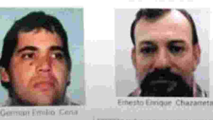 Germán Cena e Ernesto Chazarreta foram deportados assim que chegaram ao Rio de Janeiro - Divulgação