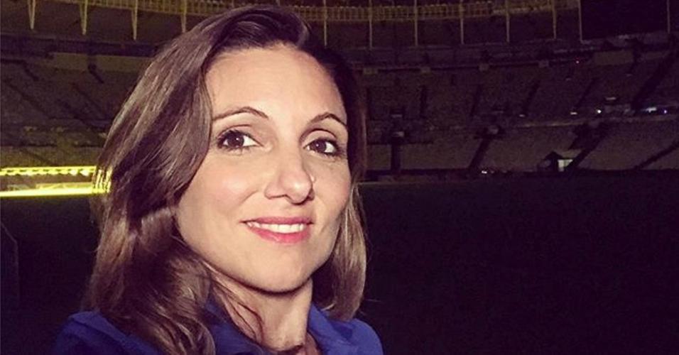 Verónica Brunatti faz selfie no Maracanã depois de Argentina x Venezuela