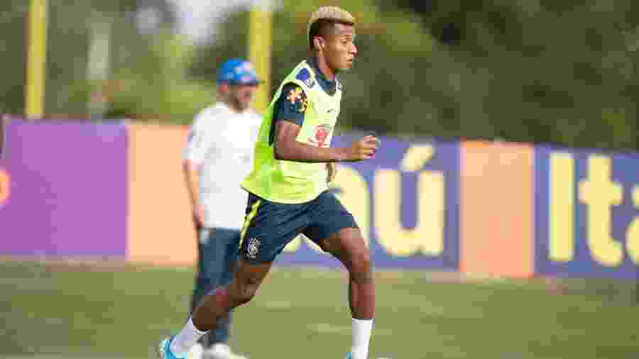 David Neres, atacante do Ajax, durante treino da seleção brasileira nos EUA - Lucas Figueiredo/CBF