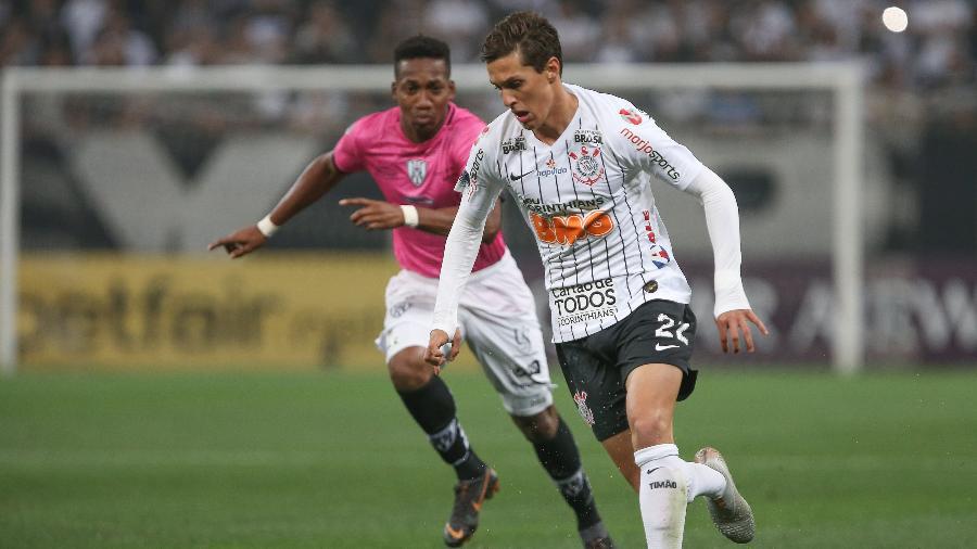 Mateus Vital, durante partida entre Corinthians e Independiente Del Valle - Marcello Zambrana/AGIF