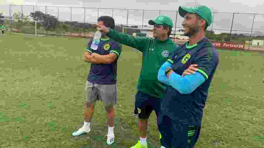 Técnico Ney Franco durante treinamento do Goiás - Goiás Esporte Clube