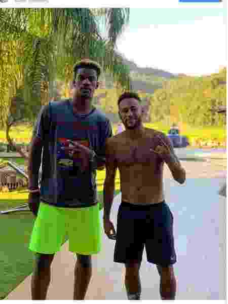 Jimmy Butler e Neymar  - Reprodução