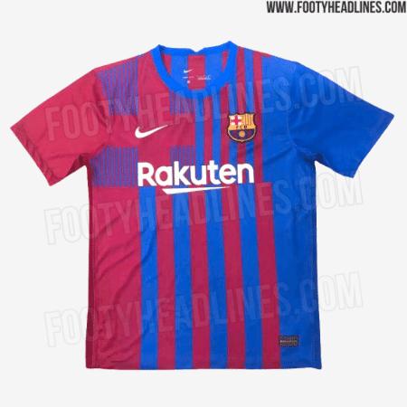 Suposta nova camisa do Barcelona para a temporada 2021-22 - Reprodução/Footy Headlines