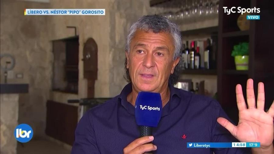 Técnico Pipo Gorosito atacou SPFC e Ney Franco em entrevista à TV argentina - Reprodução TV
